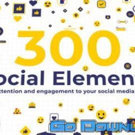 Videohive 300 Social Elements Premiere Pro 34131479 Free Download