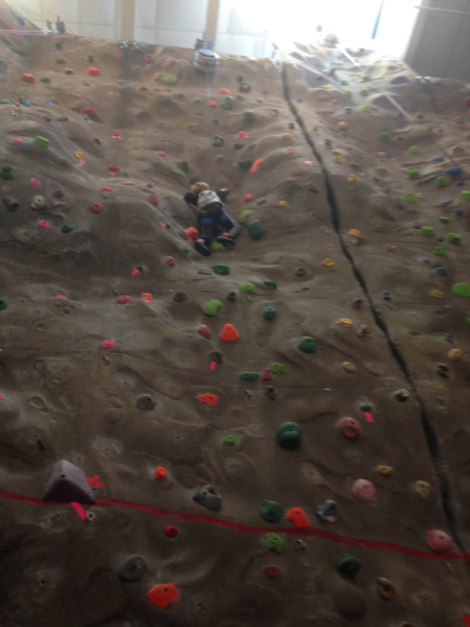 Climbing Wall with Andrew