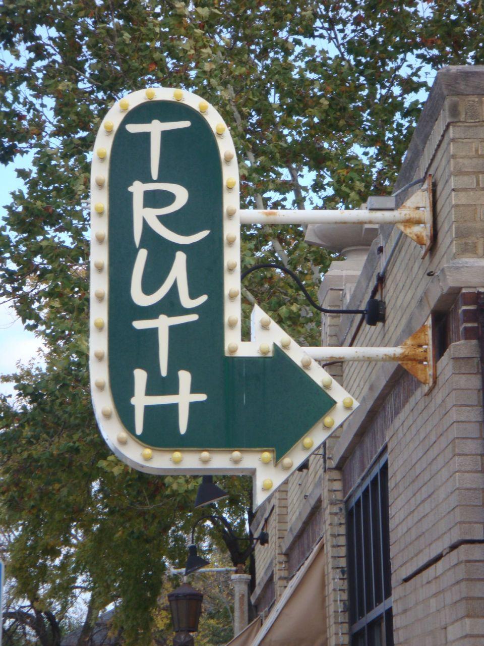 Truth Sign via loreshdw on Flickr -- CC