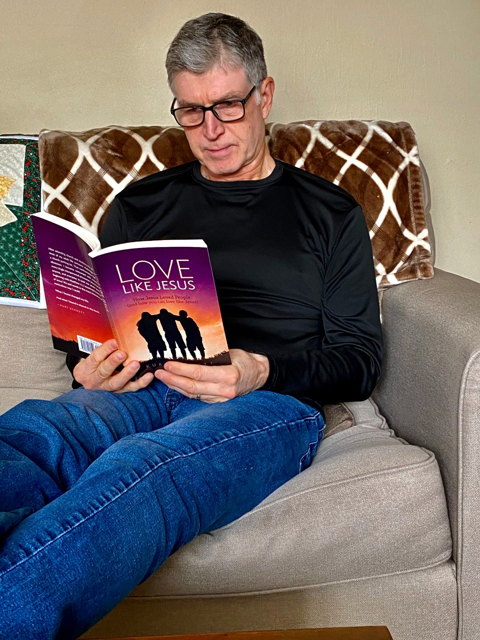 Kurt Reading on the Couch - Love Like Jesus