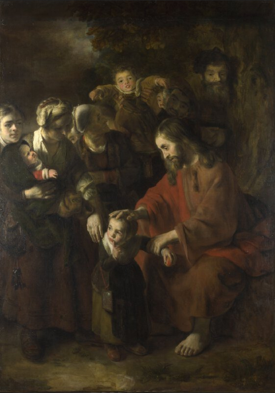 Nicolaes_Maes_-_Christ_Blessing_the_Children_-_WGA13814 Wikicommons
