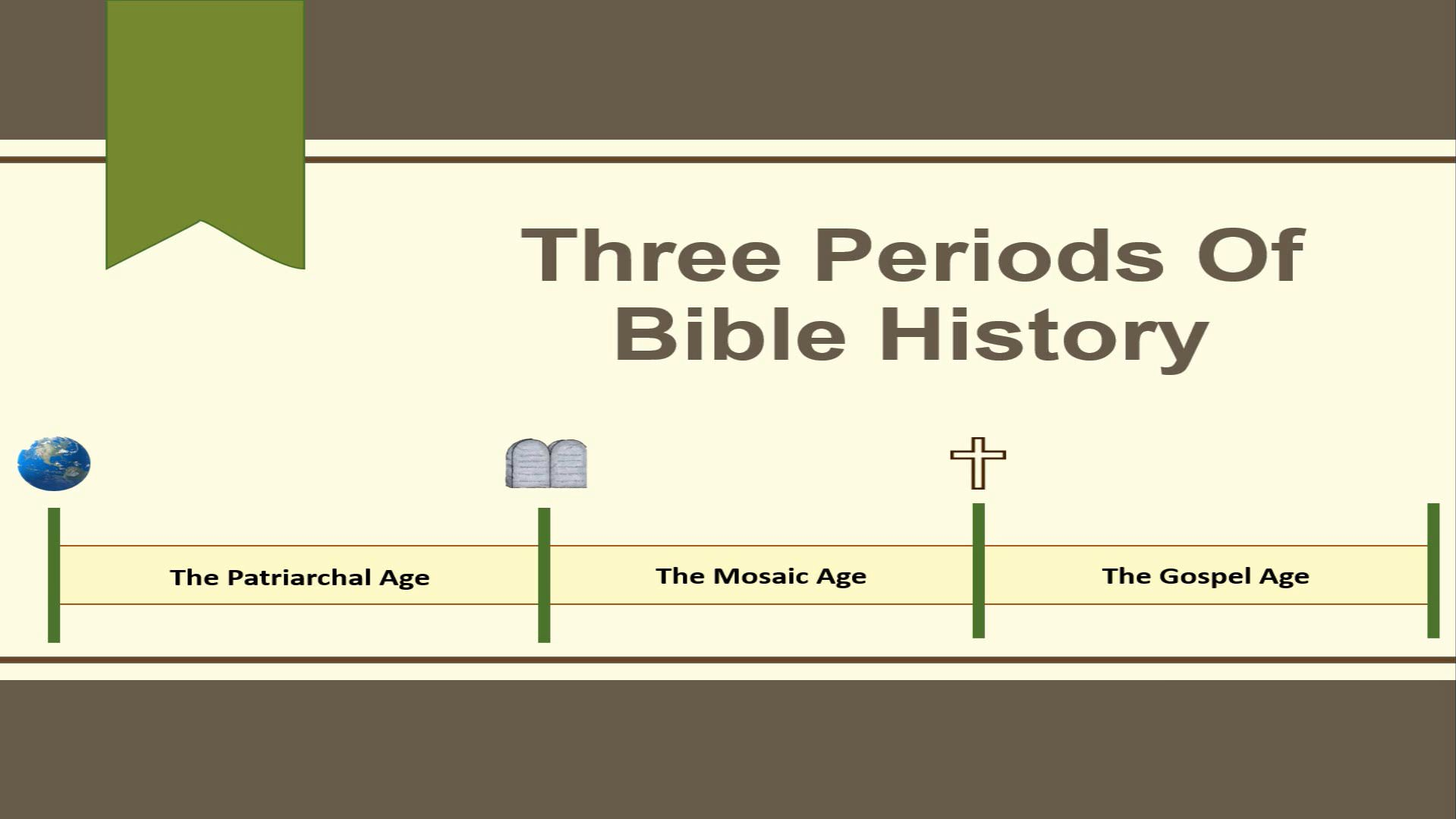 Three Periods Of Bible History