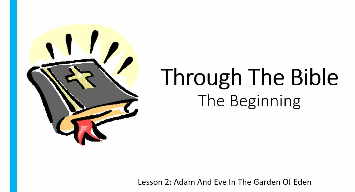 The Beginning (Lesson 2: Adam And Eve In The Garden Of Garden)