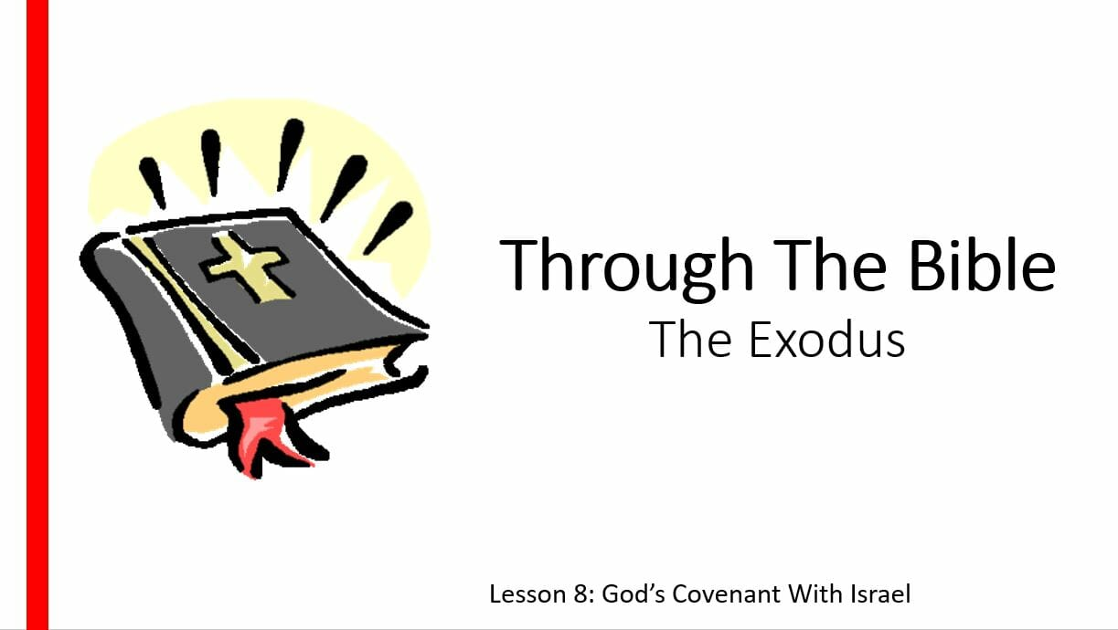 The Exodus (Lesson 8: God's Covenant With Israel )