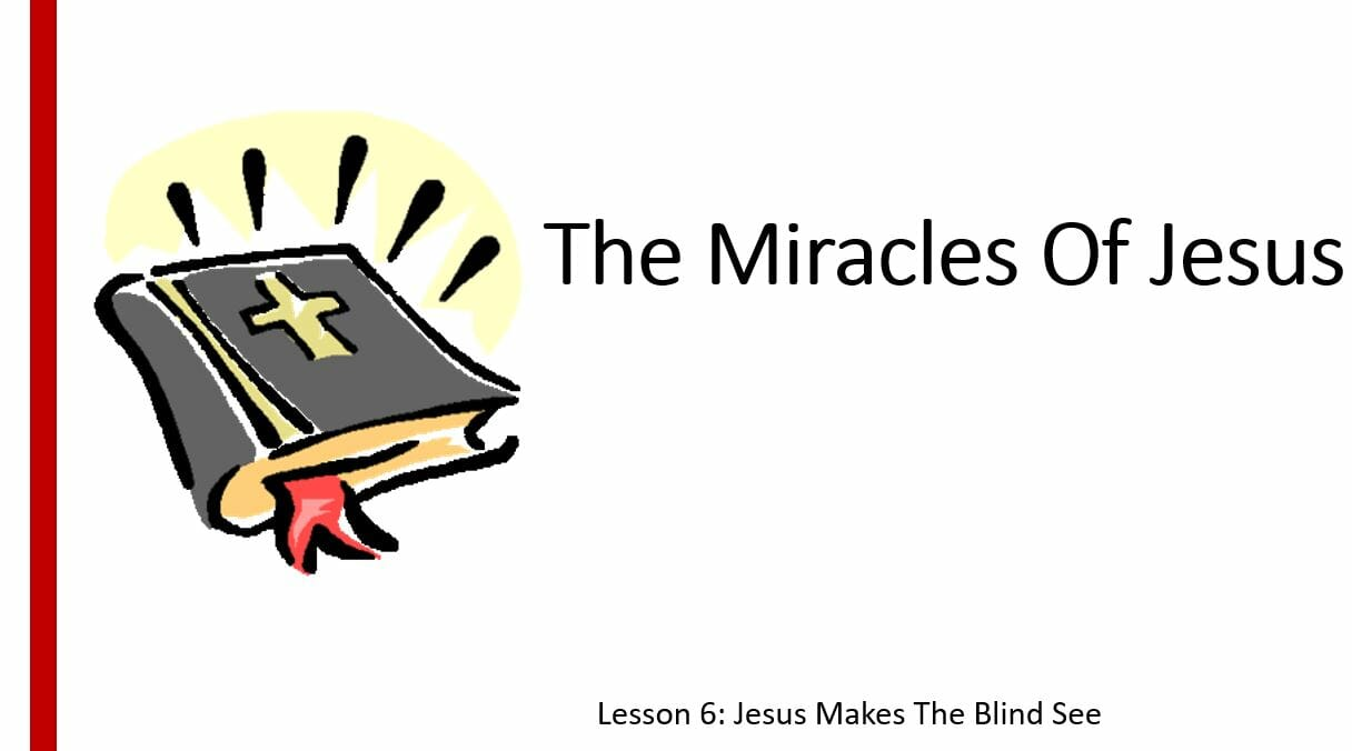 The Miracles Of Jesus (Lesson 6: Jesus Makes The Blind See)