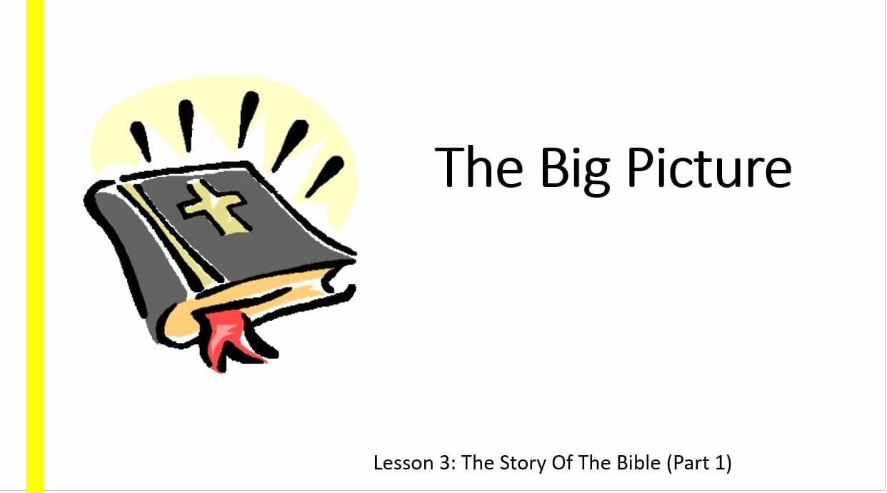 The Big Picture (Lesson 3: The Story Of The Bible Part 1)