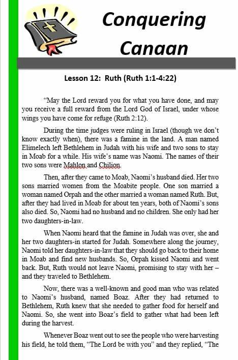 Conquering Canaan (12 – Ruth)