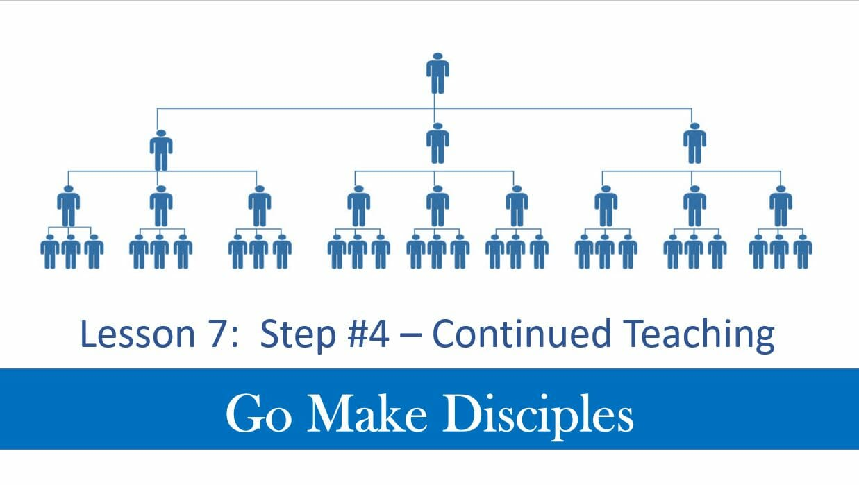 Go Make Disciples (Lesson 7 – Step 4 Continued Teaching)
