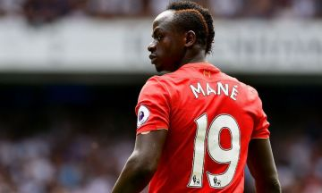 Sadio Mané avec le maillot de Liverpool