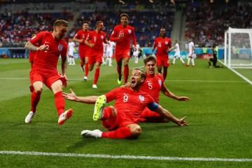 L'Angleterre à la joie. (Photo : @England sur Twitter)