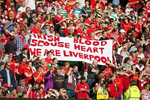 Les Reds revendiquant leurs origines irlandaises.