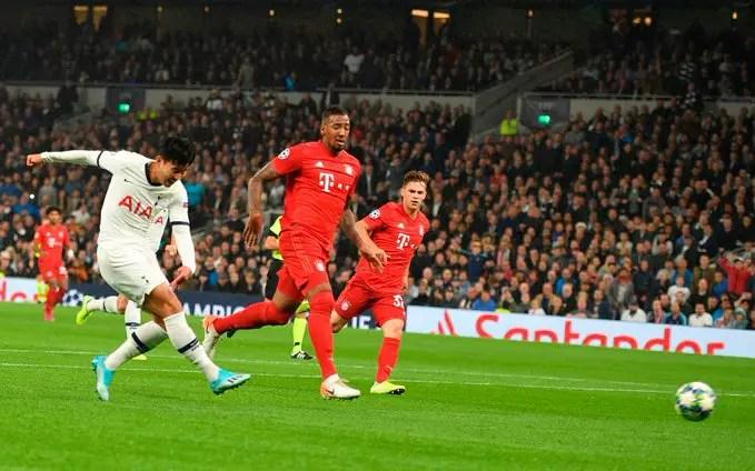 C'était la belle époque où Tottenham menait au score face au Bayern. (Photo : @SpursOfficial sur Twitter)