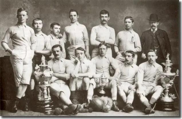 L'équipe de Blackburn Rovers, qui a remporté la FA Cup en 1884