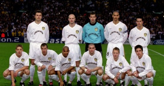 Le Leeds des années 2000, composé entre autres de Rio Ferdinand, Alan Smith, Harry Kewell, Mark Viduka et d'Olivier Dacourt © Leeds Live