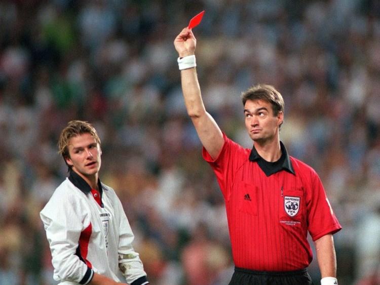 Beckham red card
