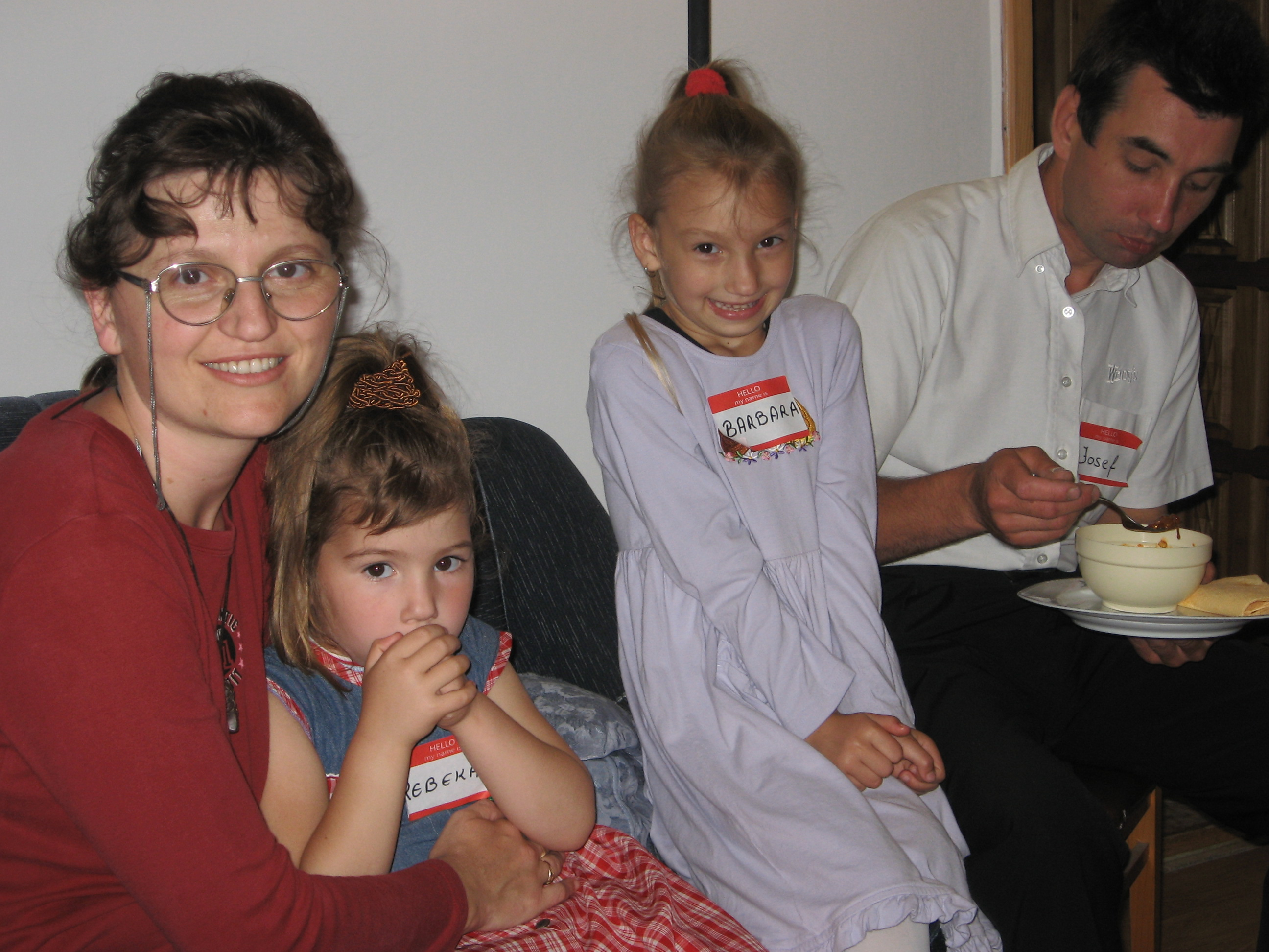 Josef, Magdalena and daughters at LST Party