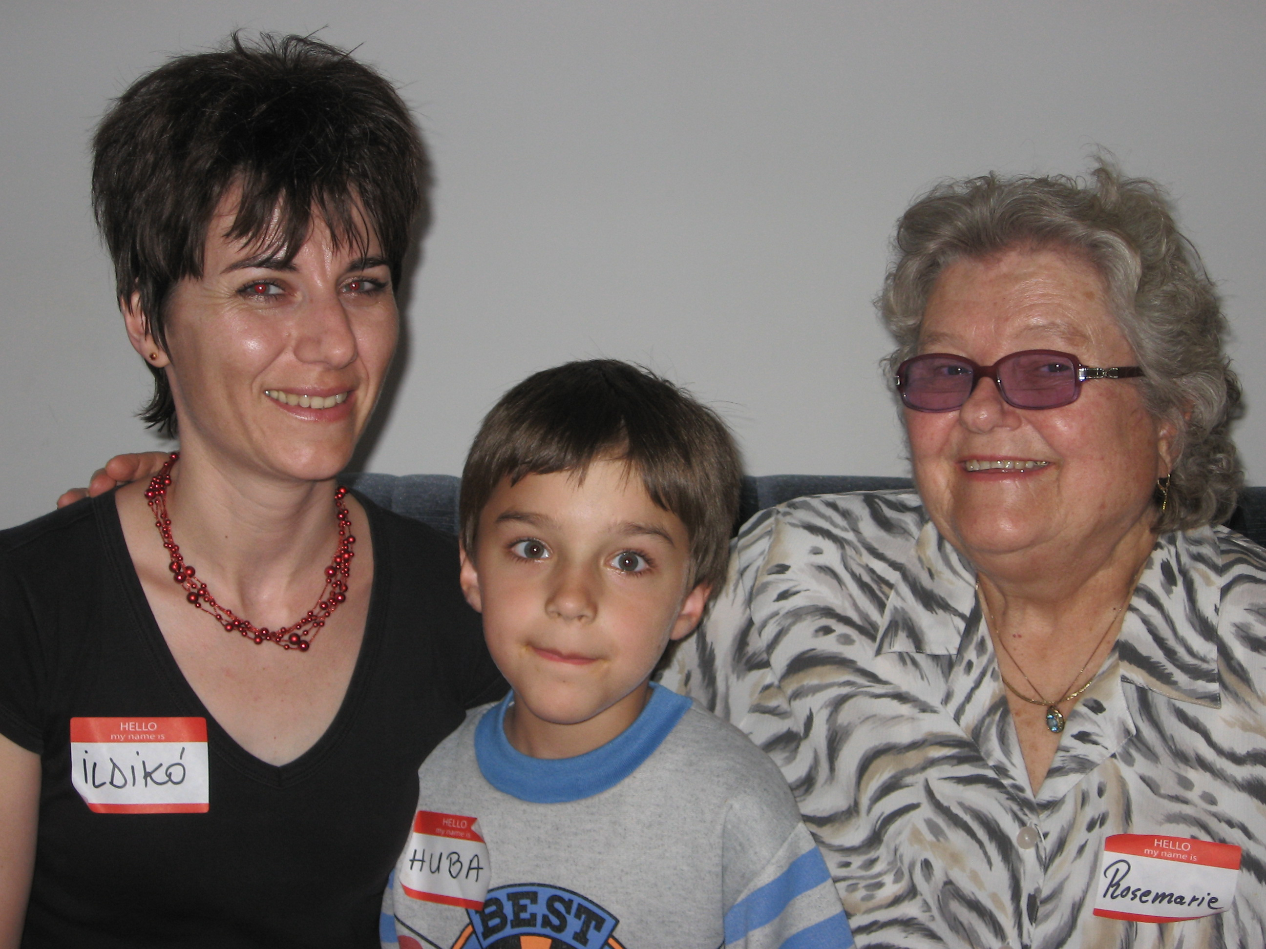 Ildeko, her son, Huba, and Rosemarie at LST Party