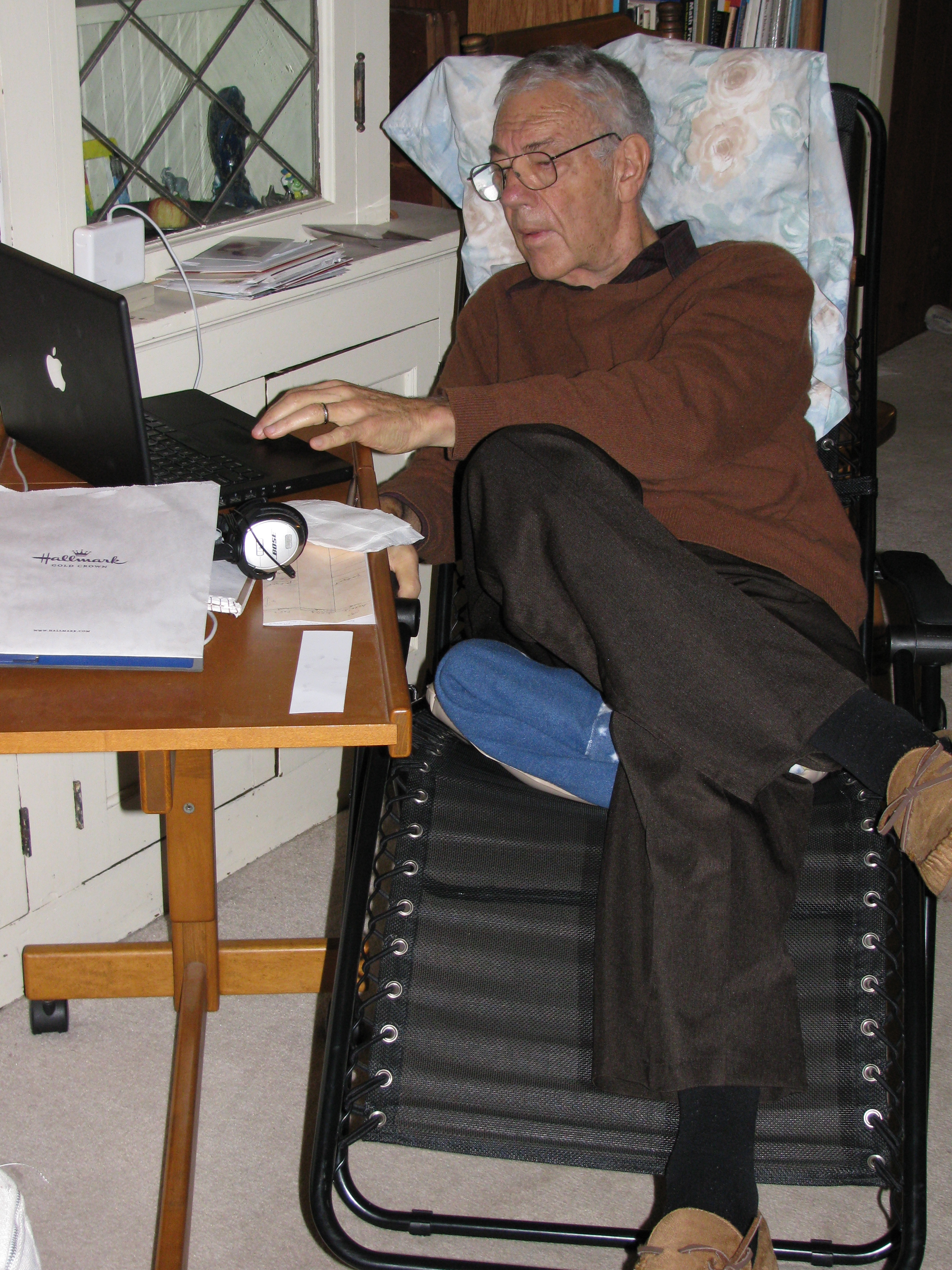 Dan's recliner & workstation at home