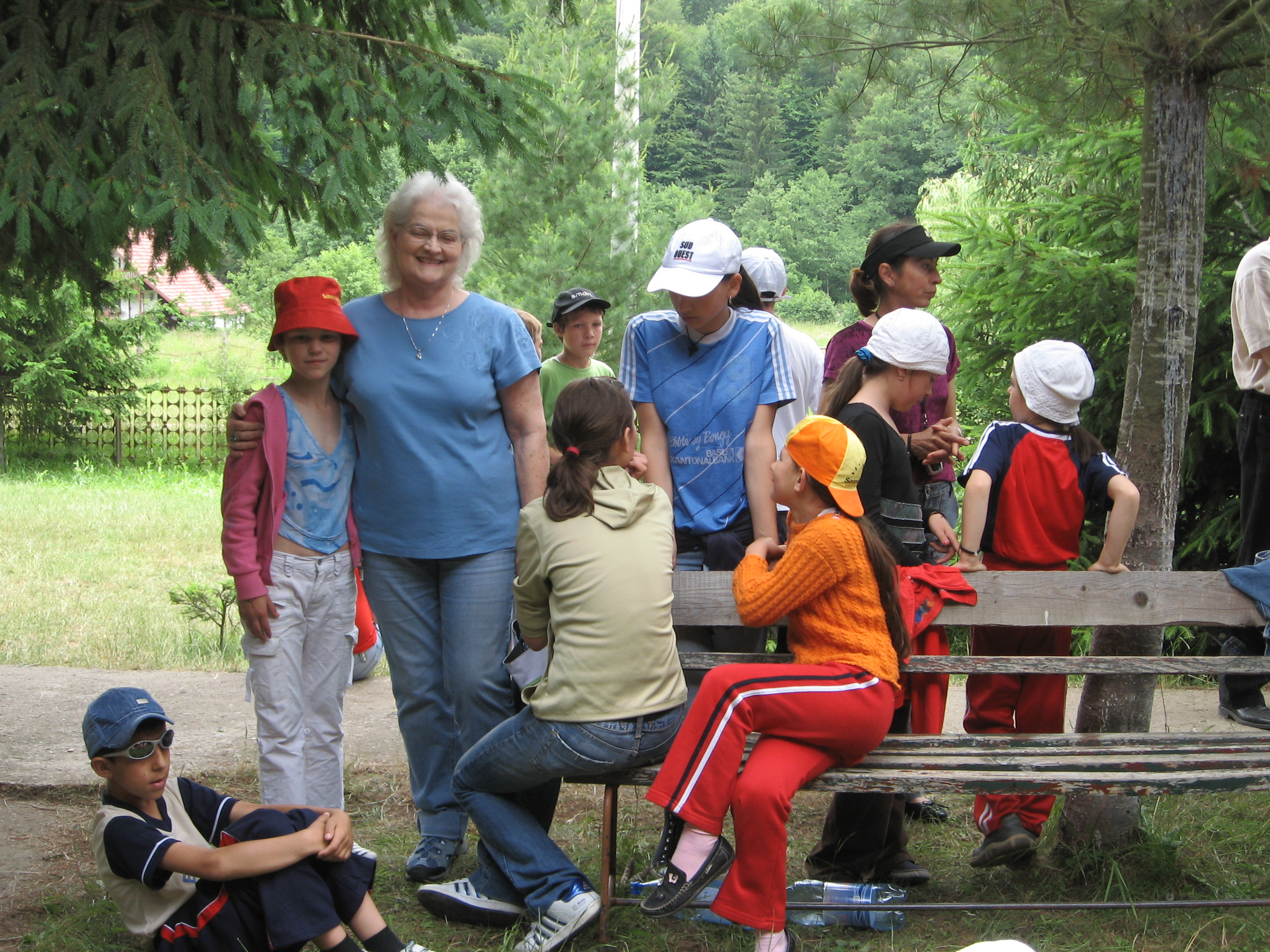 Covasna County Children at '08 Red Cross Camp.  (They wanted to be in the photo, but at the last minute turned their heads!)