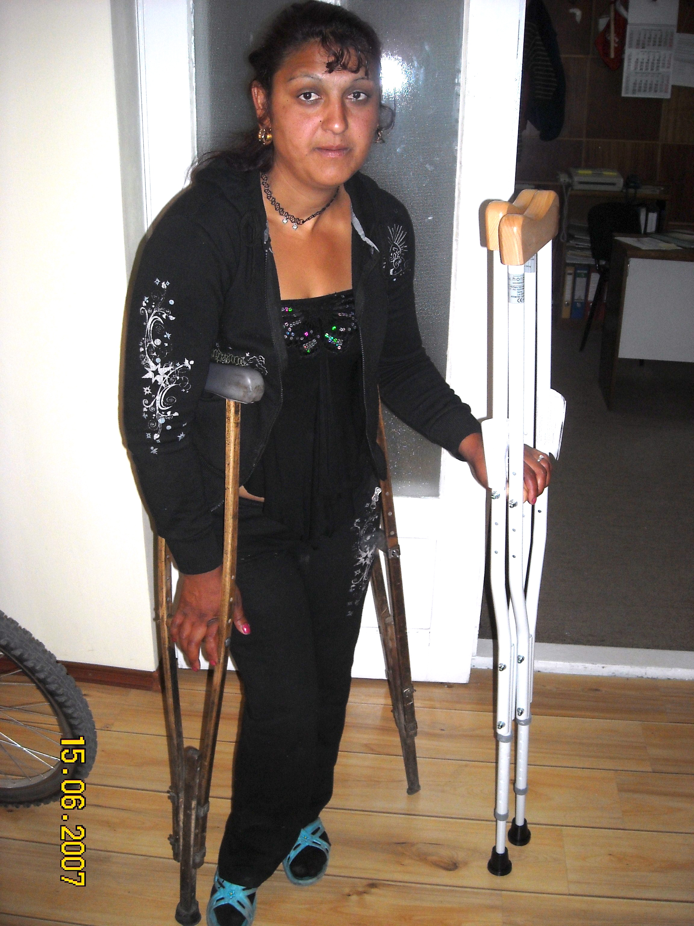 Because of God's Children, this Gypsy teen now ha crutches her size!