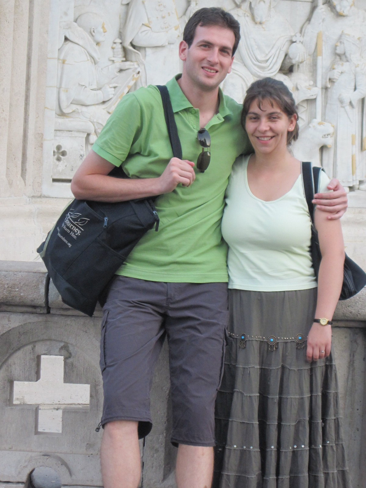 Karoline and Arpad were my personal escorts and protectors in Budapest