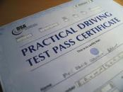 driving test certificate