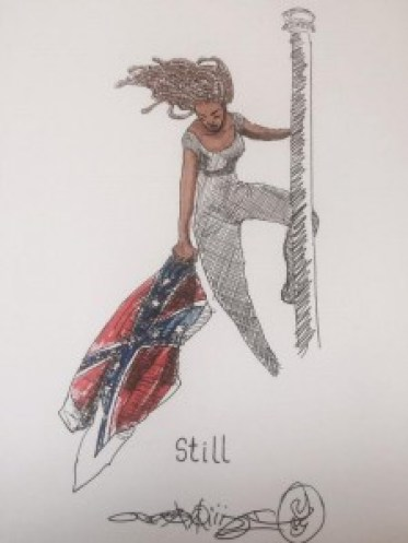 Image of Activist Bree Newsome, Still by @Niall_JayDub used with full permission of the artist.