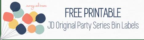 Free Printable - JD Original Party Series Bin Labels 2