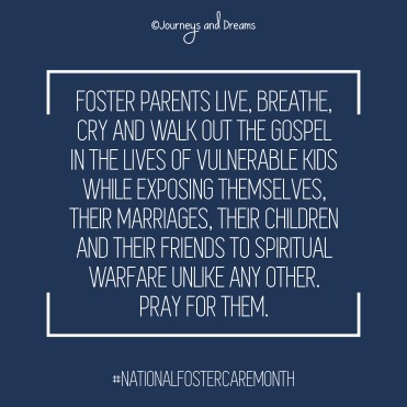 National Foster Care Month - Quote - Pray for Foster Parents