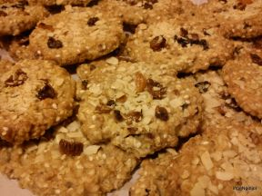 Raisins, Sultanas, Apricots, Ginger, and Almond Crunchies