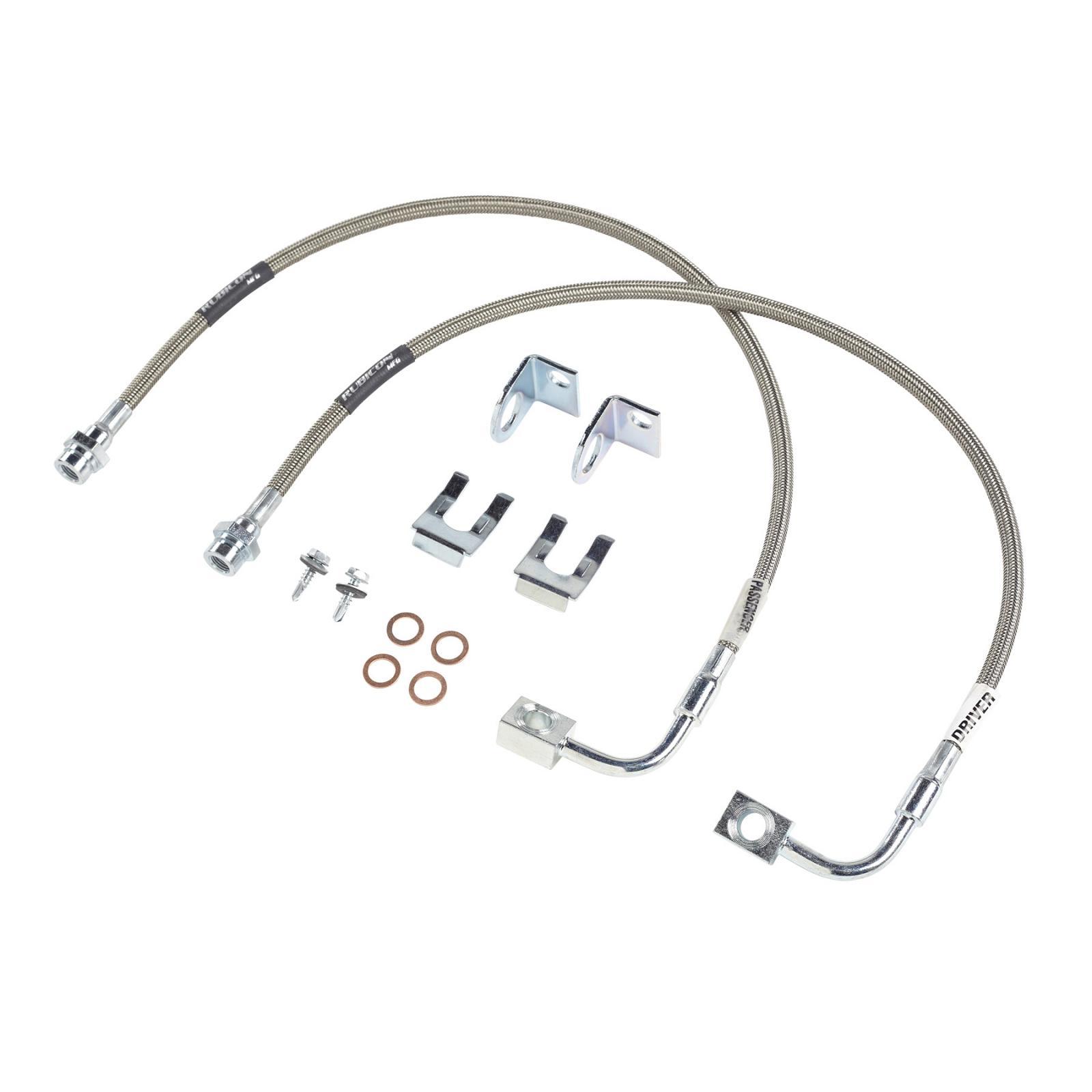 Rubicon Express Front Brake Line Set 24 Inch W Install Kit