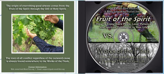 Fruit of Spirit Woks of the Flesh inside Audio CD