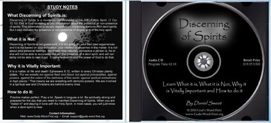Discerning of Spirits Inside CD
