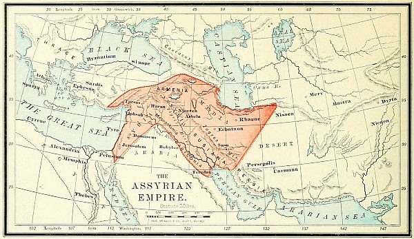 Assyrian Empire Bible Map