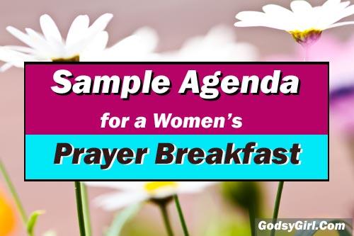 Prayer Breakfast Sample Agenda Pin Now Christian