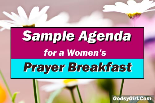 Prayer Breakfast Sample Agenda Pin Now Encouragement