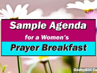 Prayer Breakfast Sample Agenda