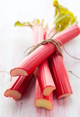 13330934 - bunch of fresh  rhubarb