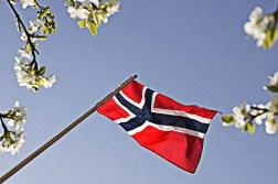Norge i rødt, hvitt og blått