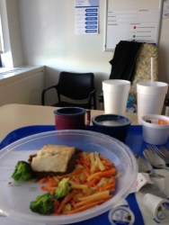 Thank God I was not so hungry. In all fairness, this hospital's food is much better than other hospitals I have been to.