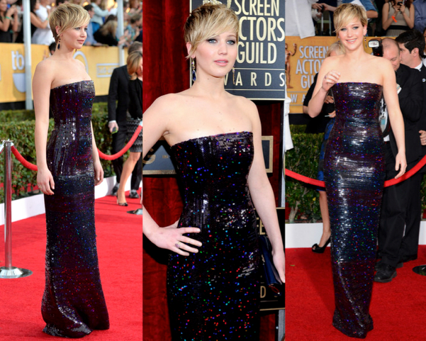 JENNIFER LAWRENCE in CHRISTIAN DIOR COUTURE - LAS MEJOR VESTIDAS DE LOS 2014 SAG AWARDS
