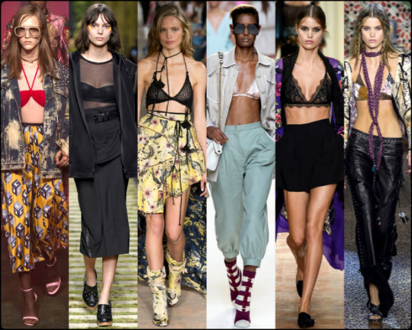 bralettes, sujetadores, tendencias primavera-verano 2017, tendencias, tendencias milan fashion week, milan fashion week, trends spring 2017, trends milan fashion week, trends