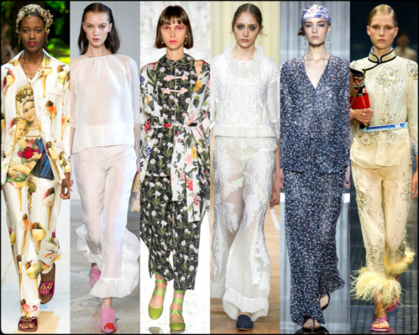 pajama, pijama, tendencias primavera-verano 2017, tendencias, tendencias milan fashion week, milan fashion week, trends spring 2017, trends milan fashion week, trends