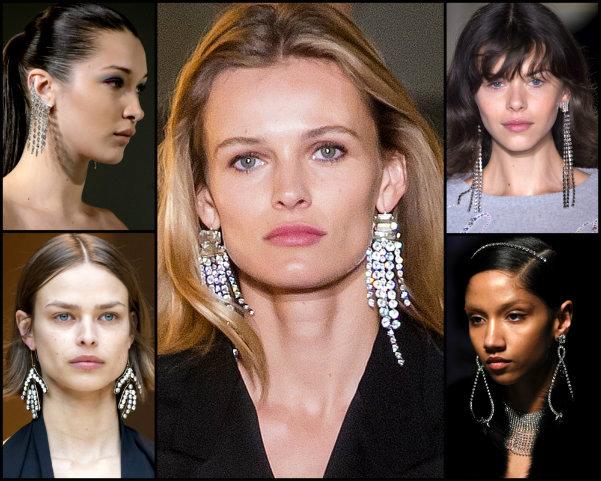 chandelier, pendientes, earrings, joyas, tendencias, jewels, trends, fall 2017, joyas de tendencia, jewels trend