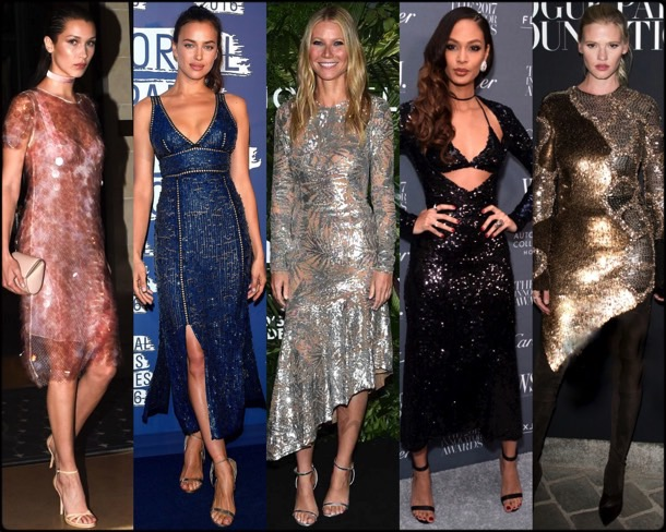celebrities, celebrities looks, sequin looks, lentejuelas, vestidos fiesta, party dresses, sequin trend