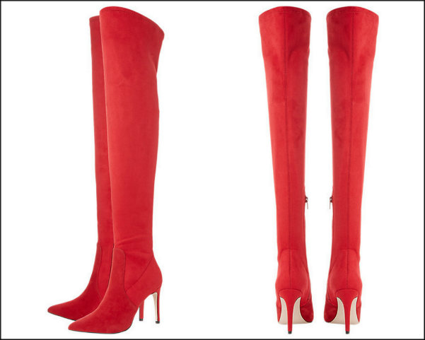 dune, red boots, botas rojas, shopping, trend