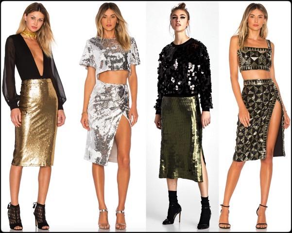 sequin skirt, falda lentejuelas, vestidos fiesta, party dresses, sequin trend