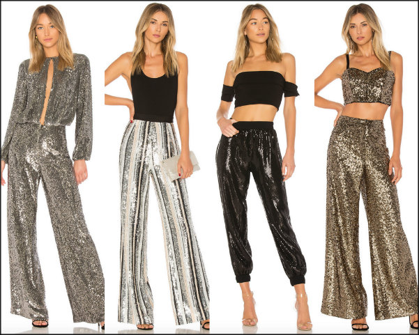 sequin trousers, pantalon lentejuelas, looks fiesta, party looks, sequin trend
