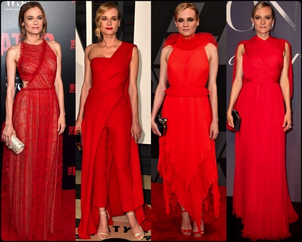 celebrities, red dress, vestido rojo, trend, tendencia, spring 2018, verano 2018