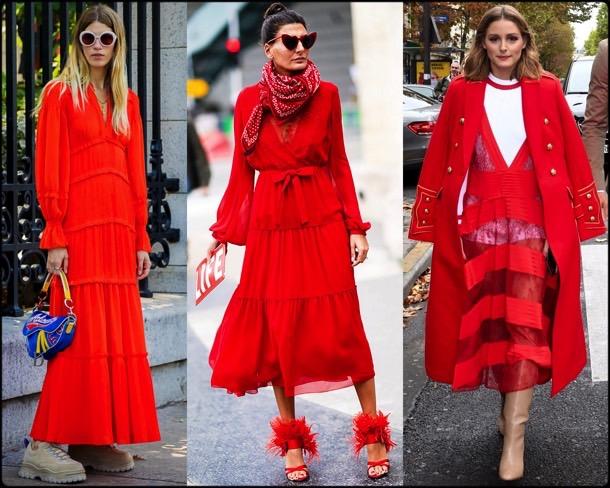 streetstyle, red dress, vestido rojo, trend, tendencia, spring 2018, verano 2018